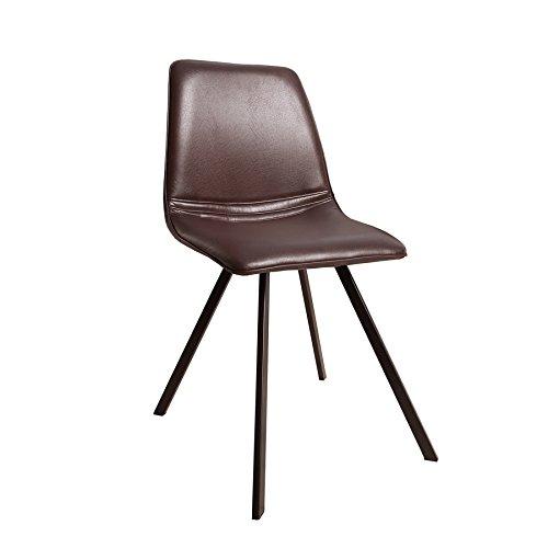 Invicta Interior Retro Stuhl Amsterdam Chair Braun Designklassiker Antik Look Esszimmer-Stuhl...