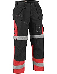 Blaklader X1500 High Vis Black/Highvis Red Size W40/L33