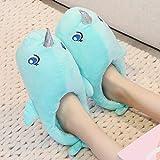WEI Hausschuhe Baumwolle Hausschuhe Plüsch Warme Hausschuhe Niedliche Hausschuhe Hai Hausschuhe,Bild,Einheitsgröße