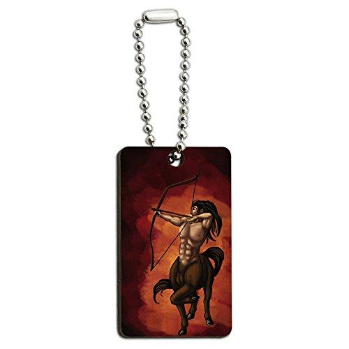 Centaur–Schütze Mythologie mythischen Kreatur Archer Schleife Pfeil Holz Rechteck Schlüssel Kette