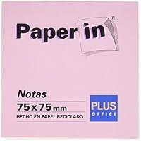Plus Office Paper In - Blocs notas reposicionables, 300 hojas, 75 x 75 mm, colores pastel