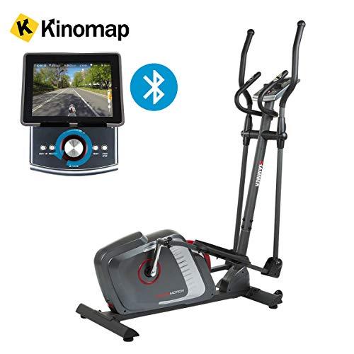 HAMMER Premium Crosstrainer Cross-Motion BT - APP Steuerung für Smartphone - Bluetooth Anbindung - Kompatibel mit: Kinomap, iConsole+ und BitGym - 22 Trainingsprogramme