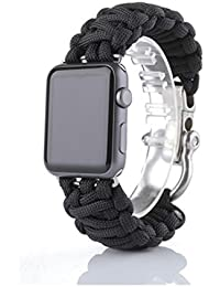 Apple Watch Correa,Culater Pulsera de Supervivencia de Cuerda de Nylon Banda para iWatch 42mm