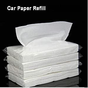 PegasusPremium Luxury Black Leather Car Back Seat Headrest Hanging Tissue Holder Case Mount, Multi-use Car Tissue Paper Holder with One Tissue Refill for Car & Truck Decoration