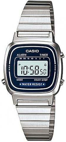 Casio Damen-Armbanduhr Vintage Digital Quarz Metall LA-670WA-2