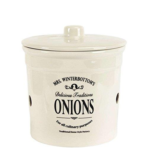 BUTLERS Mrs. Winterbottom's Zwiebeltopf aus Steingut im englischen Design - creme