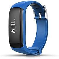 P6 Inteligente Banda de Reloj Bluetooth Pantalla Digital Reloj de Pulsera Moda Deportes al Aire Libre Reloj Monitor de Salud Recordatorio de Llamadas - Azul