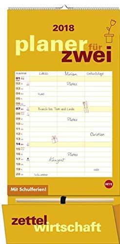 Preisvergleich Produktbild Planer für zwei plus Tasche - Kalender 2018