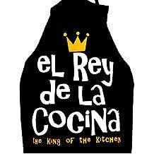 ZINGS Delantales de cocina divertidos - Rey de la Cocina (Negro)