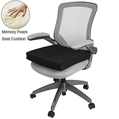 Schaum-pad (Sitzkissen, Stuhlkissen für Rücken, Ischias und Steißbein Schmerzlinderung Outdoor Sitzkissen Memory-Schaum Stuhl Sitzkissen Pad für Rollstuhl, Office & Car von Big Hippo, schwarz)