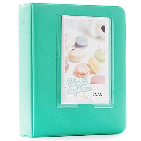 CAIUL 64 Pockets Candy Color Fujifilm Instax Mini Book Album for Instax Mini 8 8+ 9 70 7s 90 25 26 50s Films