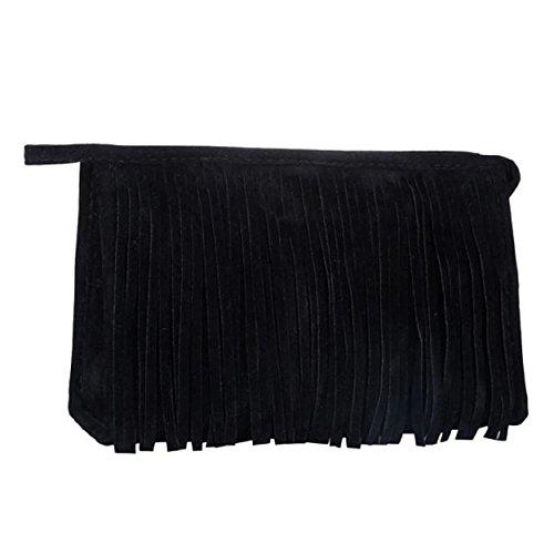 Susenstone Cosmetic Bag Moda nappa Portable Black