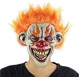 Máscara De Látex Para Halloween, Máscara De Payaso, Máscara De Payaso Llama, Máscara De Miedo Travieso Cara De Halloween De Disfraces Fiesta, Bar, Masquerade