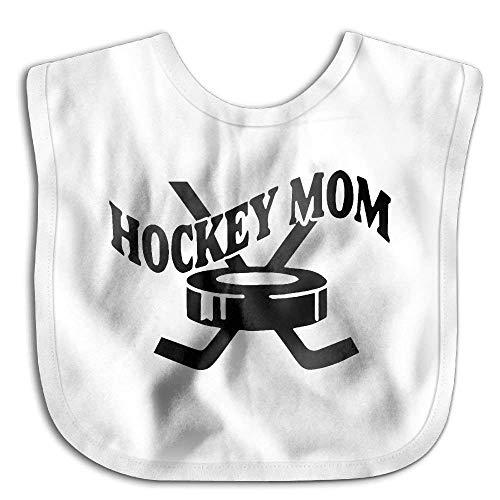 Hockey Mom Funny Baby Bibs Burp Infant Drool Toddler Absorbent Bibs Hockey-baby-bib