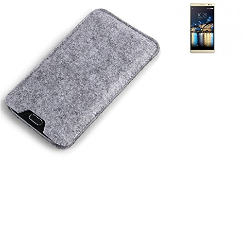 K-S-Trade Filz Schutz Hülle für Switel Champ S5003D Schutzhülle Filztasche Filz Tasche Case Sleeve Handyhülle Filzhülle grau