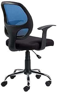 Linéa TAMI Chaise de Bureau Bleu/Noir 56 x 48 x 98 cm