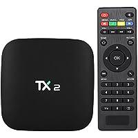 Docooler TX2 Smart Android TV Box Android 6.0 Rockchip RK3229 Quad Core UHD 4K VP9 H.265 Mini PC 2GB / 16GB DLNA WiFi LAN Media Player Enchufe de la UE