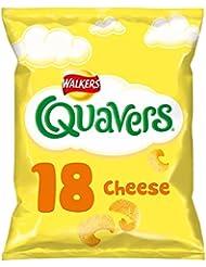 Walkers Quavers Cheese Multipack Snacks, 18 x 16 g
