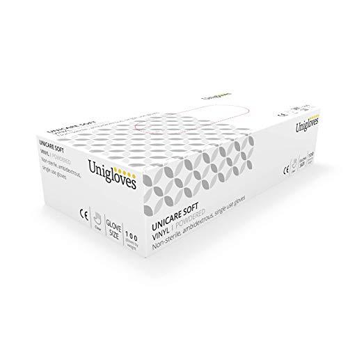 Unigloves 1824A Vinyl-Einmalhandschuhe, gepudert, Größe L, 100 Stück -