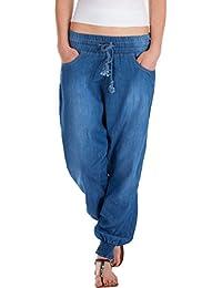 Fraternel Sarouel pantalon jeans femme ample décontracté