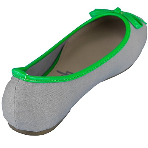 Refresh Women Geschlossene Ballerinas Grey/Green