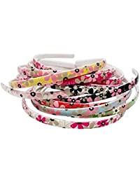 Multi-Colour Flowers Daily Use Plastic Hair Bands For Girls And Women (Set Of 12 Hair Bands)