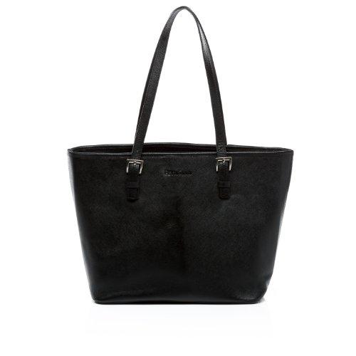 """FEYNSINN Laptoptasche GRACE - Umhängetasche fit für 11"""", iPad mit Extra-Abtrennung- Businesstasche - echt Leder schwarz"""