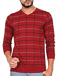 WEXFORD Men's Full Sleeve V-Neck Printed Casual T-Shirt - WEX-WFP231C