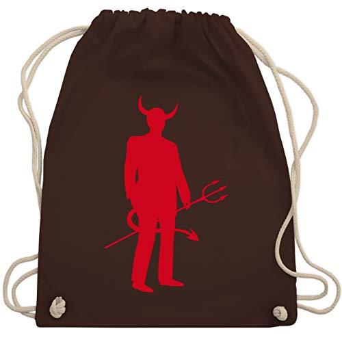 Halloween - Teufel - Unisize - Braun - WM110 - Turnbeutel & Gym Bag