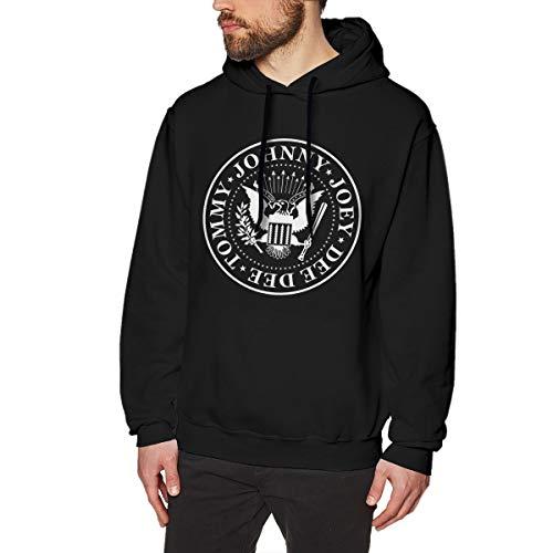Herren Ramones-Logo Pullover Hoodie Langarm Sweatshirt Hoodies für Herren Jungen Kleidung Outdoor Mantel Tops Schwarz 3XL Oval Logo Sweatshirt