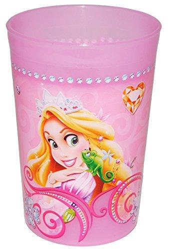 """"""" Disney Princess """" - 3 in 1 - Trinkbecher / Malbecher / Zahnputzbecher - Becher durchsichtig - Trinkglas aus Kunststoff Plastik - Mädchen - für Kinder - Kindergeschirr - Kinderbecher / Kinderglas - Rapunzel - Dornröschen - Aschenputtel"""