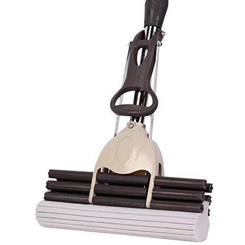 CFZHANG Mop 38cm Edelstahl Rollen Saug Handwäsche Baumwolle Schwamm Home Reinigungs-Tools Für eine Vielzahl von Boden Kehrmaschine , grey (Mops Brosche)
