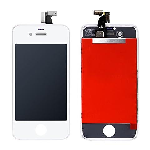 AKEKEY Display LCD Ersatz Bildschirm Front Komplettes Reparatur für iPhone 4S (Weiß)