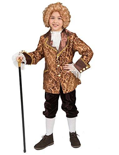 Kostüm Conte Amadeo Kind Junge Größe 116 Rokoko Barock Graf Monsieur Kinderkostüm gold Adel...