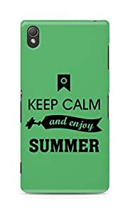 Amez Keey Calm and Enjoy Summer Back Cover For Sony Xperia Z3