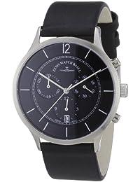 Zeno Watch Basel 6562-5030Q-i1 - Reloj analógico de cuarzo para hombre con correa de piel, color negro