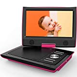 "ieGeek 11"" Portable DVD Player with Higher Brightness Screen, Dual Earphone Jack, Remote"