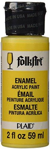 folkart-enamel-glass-ceramic-paint-in-assorted-colors-2-ounce-4017-lemon-custard