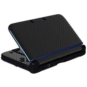 Sticker autocollant en fibre de carbone pour Console NINTENDO 3DS XL / LL,Noir