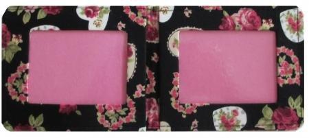 A forma di cuore con rose Oyster-Porta carte da viaggio, finitura laminata