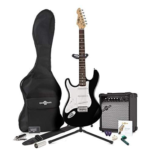 Guitarra Eléctrica LA Zurda + Pack Completo - Negro