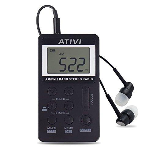 Tragbare Radio,SHONCO AM FM Radio Taschenradio Digitales Pocket Radio Portables Empfänger mit LCD Bildschirm Wiederaufladbares Batterie und Kopfhörer Ideal für zu Hause oder Unterwegs