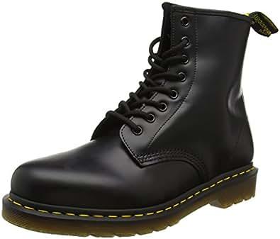 Dr. Martens 1460 Glatt, Erwachsene Unisex Stiefel,, Schwarz (Black), 36 EU