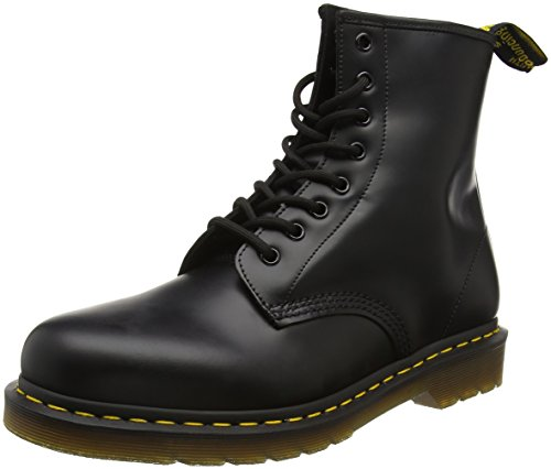 Dr. Martens 1460 Smooth, Stivaletti Unisex Adulto, Nero (Black Smooth), 38
