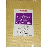 GOLD Paper Table cloths 2 per pack (Caroline){90cm x 90cm}