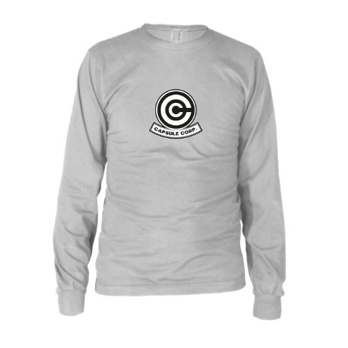 DBZ: Capsule Corp - Herren Langarm T-Shirt, Größe: XXL, Farbe: weiß (Dbz Bulma Kostüm)