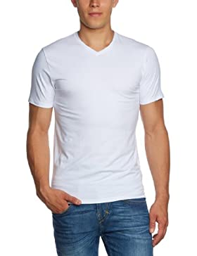 SELECTED HOMME Herren T-Shirt 16034243 Pima ss v-neck