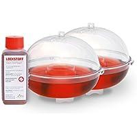 Gardigo Obstfliegenfänger 2er Set inkl. Lockstoff | Obstfliegenfalle ohne Gift, Fruchtfliegenfalle | Mittel gegen Obstfliegen | Made in Germany