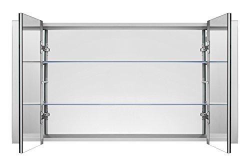Badezimmerspiegelschrank mit Raumbeleuchtung, 120 cm - 4
