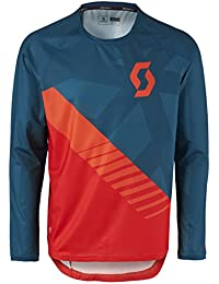 Scott Trail 20–Camiseta de ciclismo largo azul/rojo 2017, color eclipse blue/fiery red, tamaño L (50/52)